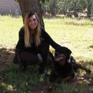 Adrienne and Einstein the dog
